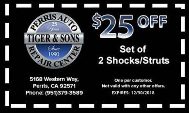 $25 off Set of 2 Shocks/Struts